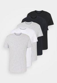 Pier One - 5 PACK - Basic T-shirt - black/dark blue - 7