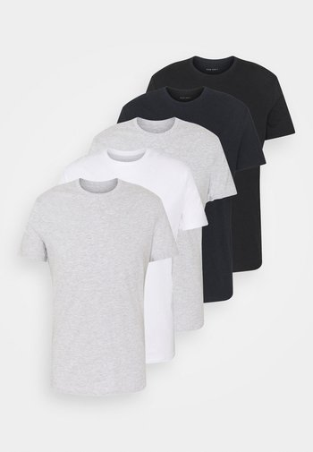 5 PACK - T-Shirt basic - black/dark blue