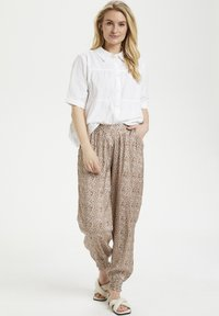 Cream - HAREM - Trousers - small brown flower - 1