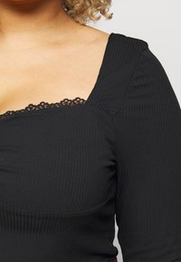 Glamorous Curve - TRIM BODYSUIT WITH LONG SLEEVES - Top - black - 6