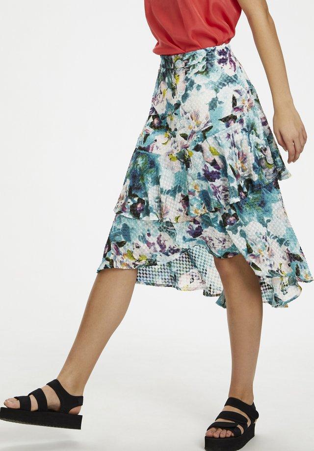 DHBLOOM - Spódnica trapezowa - opal mint