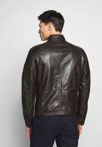 Strellson - FLAG - Leather jacket - dark brown - 2