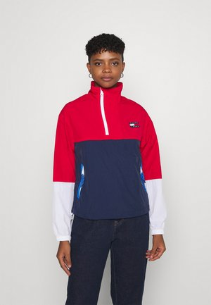 COLORBLOCK POPOVER - Windbreaker - deep crimson/multi