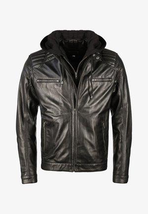 Leather jacket - black