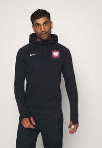 Nike Performance - POLEN HOOD - Club wear - black/white - 0