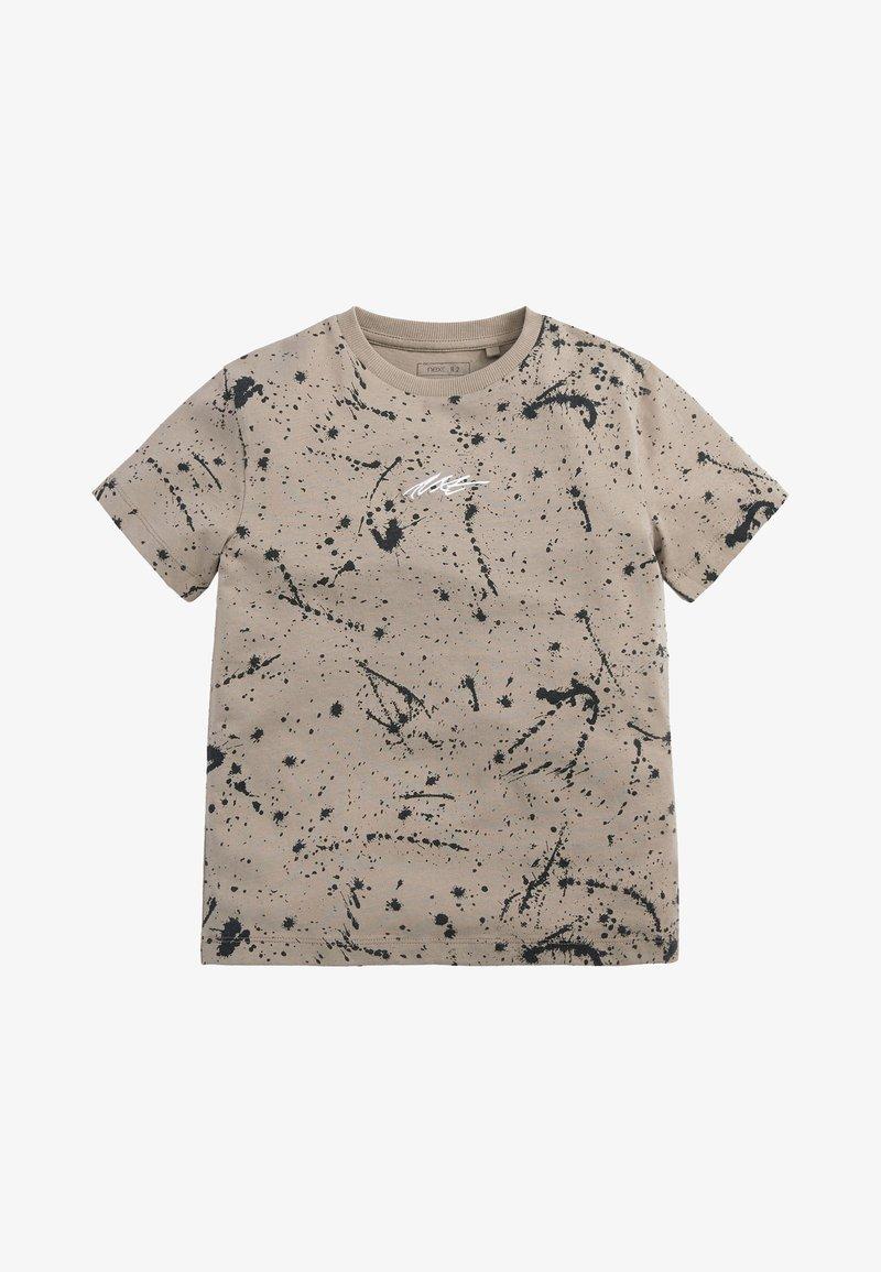 Next - Print T-shirt - stone