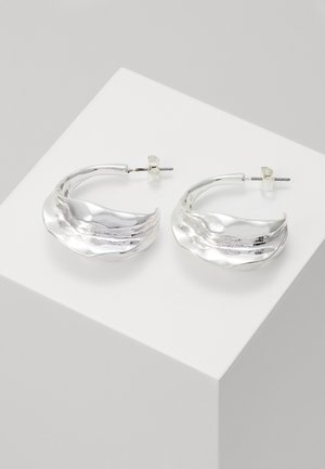 TRINE HOOPS - Earrings - silver-coloured