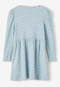 Name it - GEPUNKTETES RIPPDESIGN - Day dress - dusty blue - 1