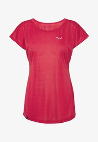 PUEZ DRY TEE - Basic T-shirt - rose/red melange