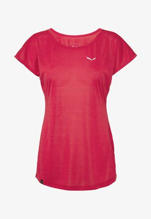 PUEZ DRY TEE - Camiseta estampada - rose/red melange