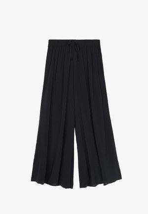 CULOTTE AUS LEICHTEM STOFF - Trousers - nero