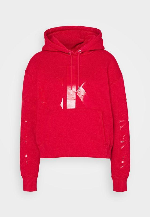 ECO HOODIE - Bluza z kapturem - red
