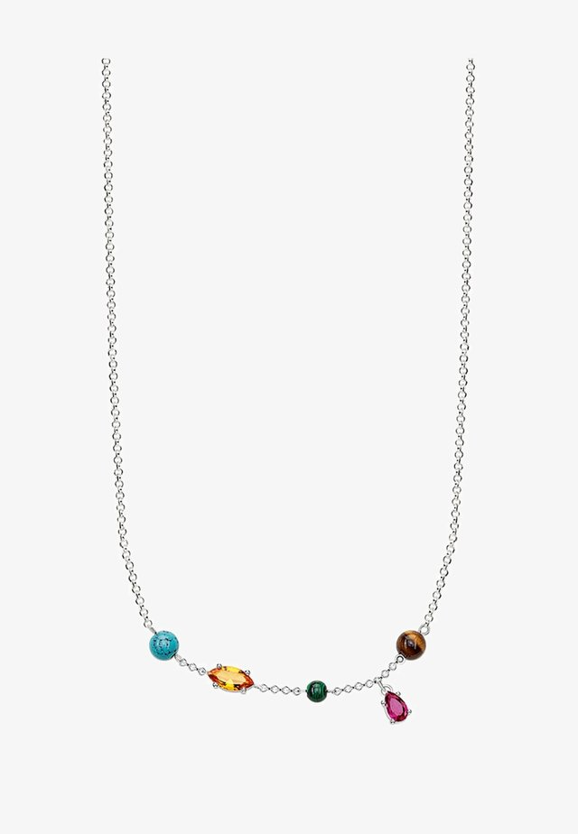 RIVIERA COLOURS  - Collier - silver-coloured, turquoise,orange,brown,red