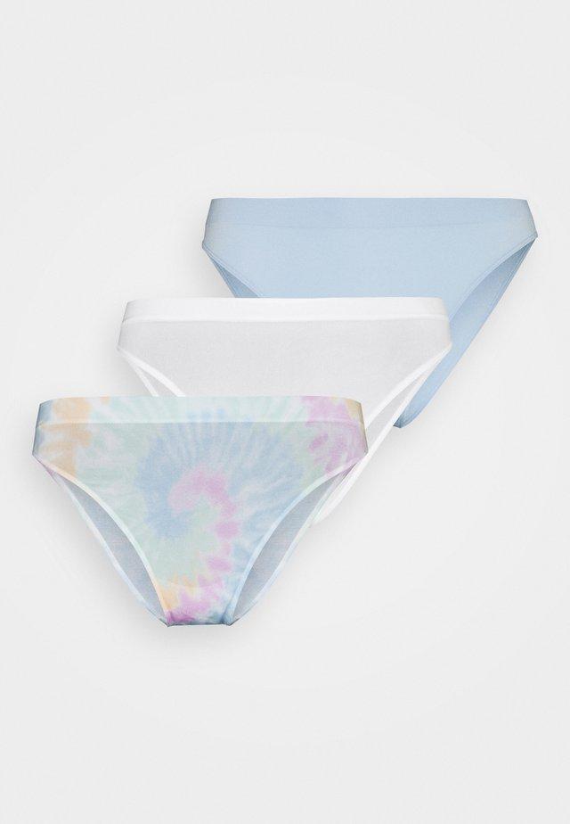 SEAMLESS 3 PACK - Alushousut - white/skyway blue/multi-coloured