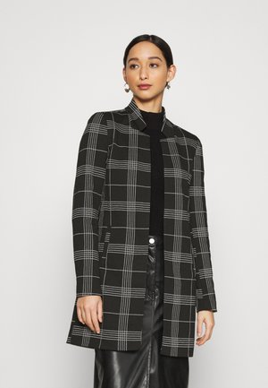 ONLSOHO CHECK  - Classic coat - black