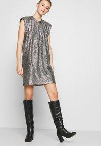 Monki - ALVINA BLING DRESS - Robe de soirée - silver / black - 4