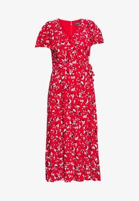 Lauren Ralph Lauren - PRINTED MATTE DRESS - Žerzejové šaty - red - 5