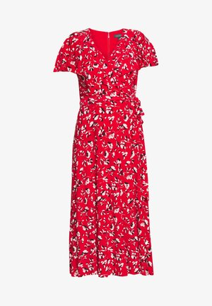 PRINTED MATTE DRESS - Jerseykjole - red