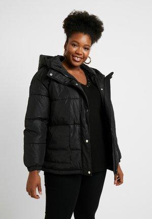 LADIES OVERSIZED HOODED PUFFER - Winter jacket - black
