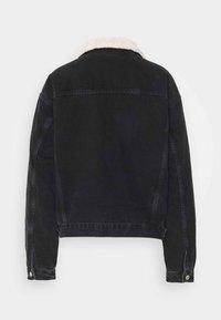 Topshop - BORG - Denim jacket - black - 1