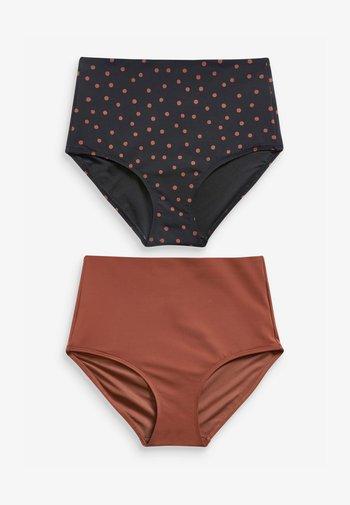 TWO PACK - Bikini bottoms - black, brown