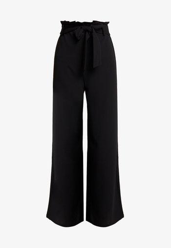 VMMILLA LOOSE PAPERBAG PANT - Kalhoty - black