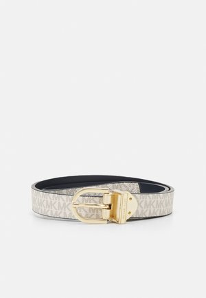 REVERSIBLE BELT - Cintura - navy/gold-coloured