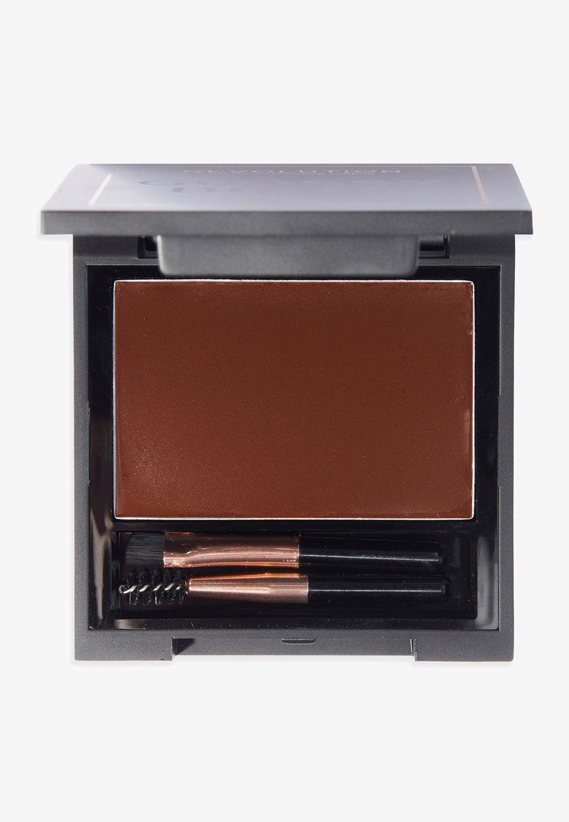 Makeup Revolution - REVOLUTION GLOSSY BROW KIT - Eyebrow powder - medium