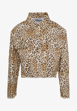 BERTY JACKET LEOPARD - Denim jacket - beige