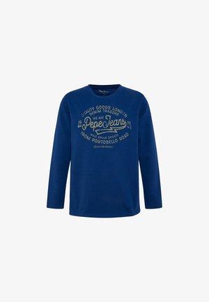 OLIVER - Top sdlouhým rukávem - dunkel blau