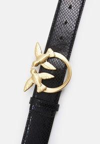 Pinko - LOVE BERRY WAIST LAMINATED BELT PITONE LAMINA - Belt - black - 3
