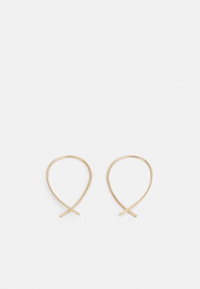 BASIC THREADER - Boucles d'oreilles - gold-coloured