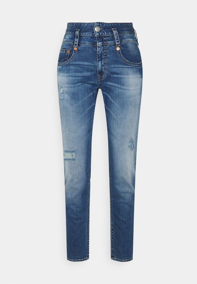 PITCH MOM POWERSTRETCH - Jeans a sigaretta - mid destroy