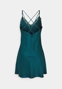 Anna Field - LACE TRIM SATIN NIGHTIE  - Camicia da notte - dark green - 7