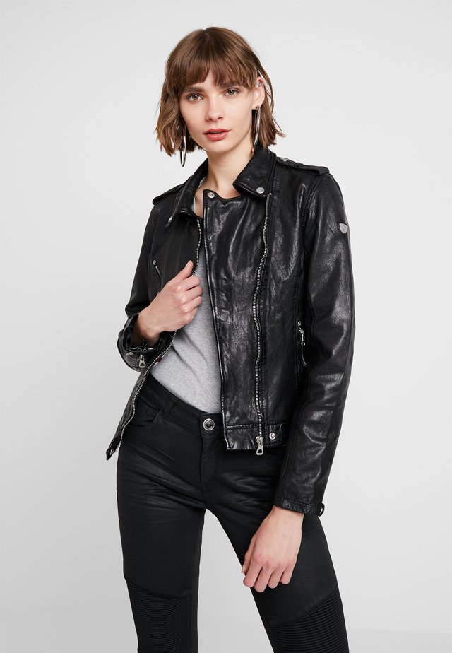 FAMOS - Leather jacket - black
