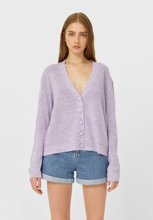 BASIC - Strickjacke - purple