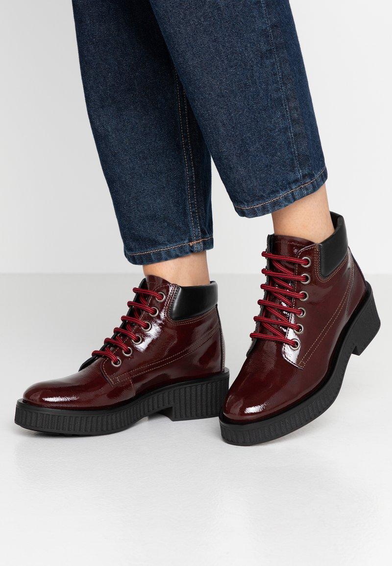 Bianco - BIACASS WORK - Ankle boot - wine red