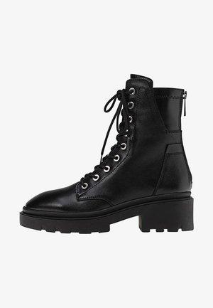 MIT REISSVERSCHLUSS  - Lace-up ankle boots - black