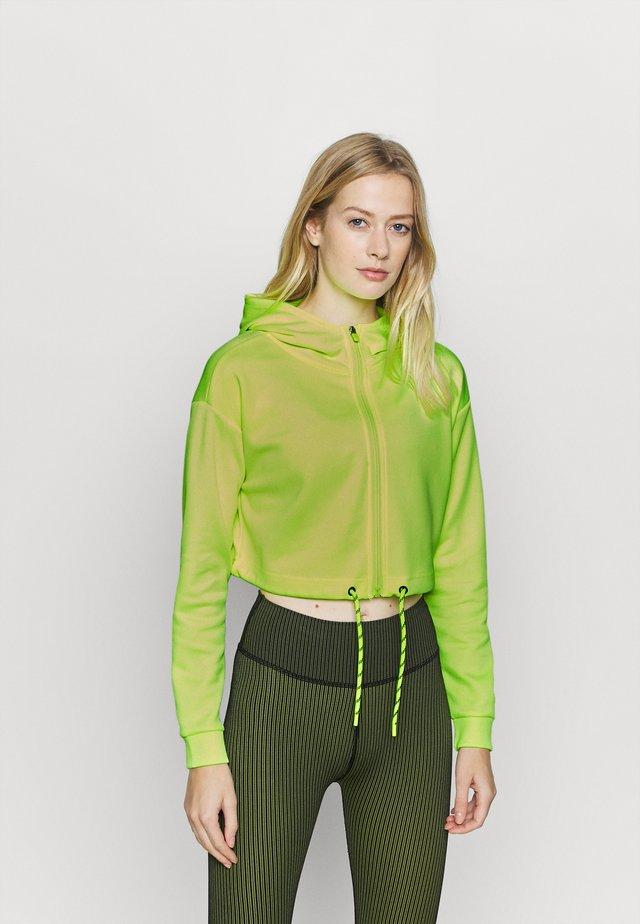 ONPJUDIE CROPPED ZIP HOOD - Training jacket - safety yellow