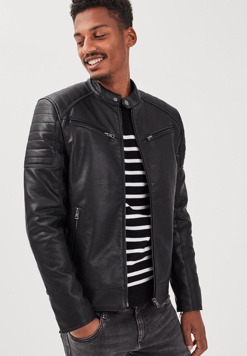 BONOBO Jeans - Imitatieleren jas - noir