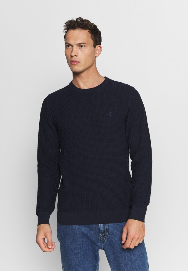 TEXTURE CREW - Jumper - evening blue