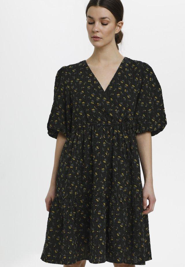 Sukienka letnia - tulip black and yellow