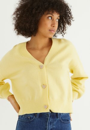 HEART  - Cardigan - yellow