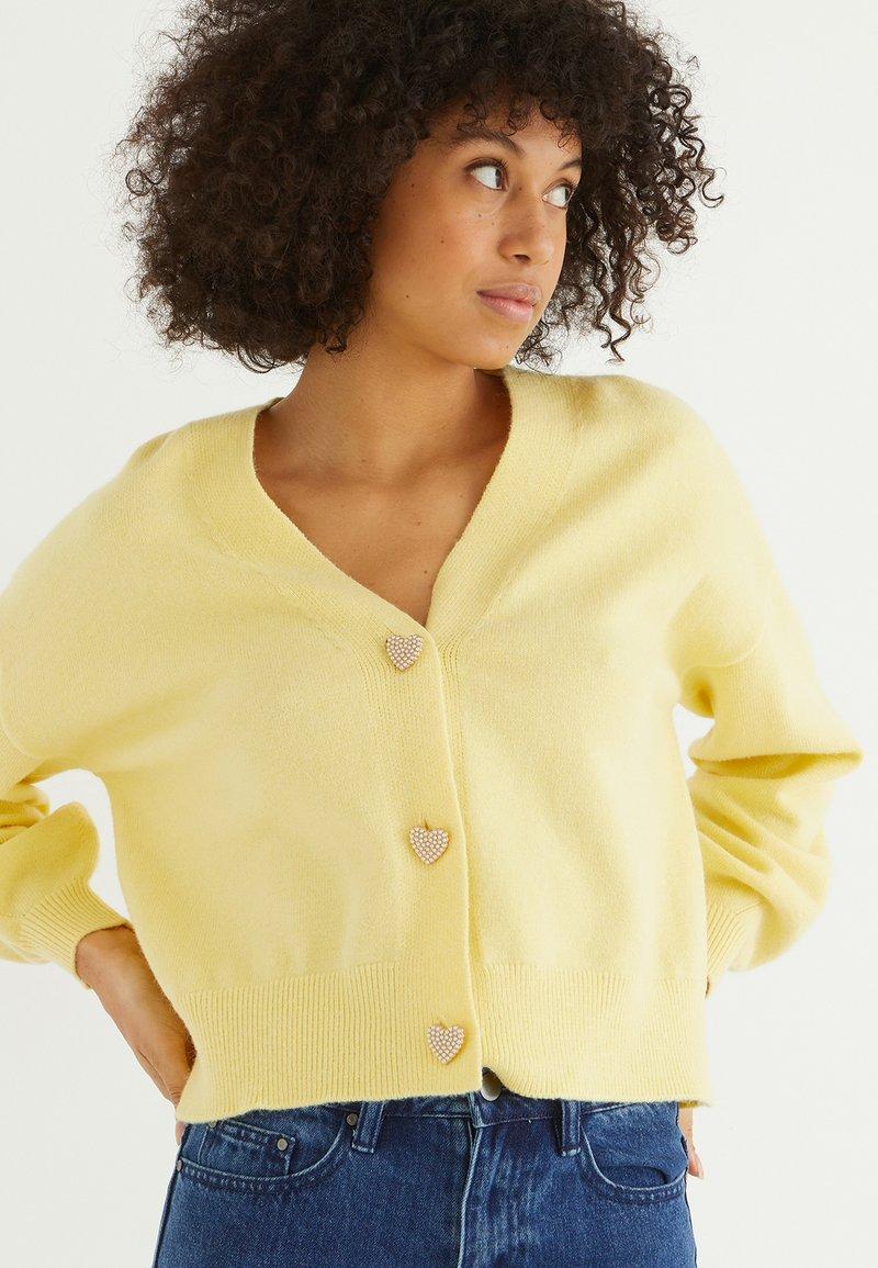 Oliver Bonas - HEART  - Cardigan - yellow