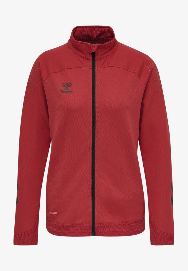 HML LEAD  - Zip-up hoodie - true red