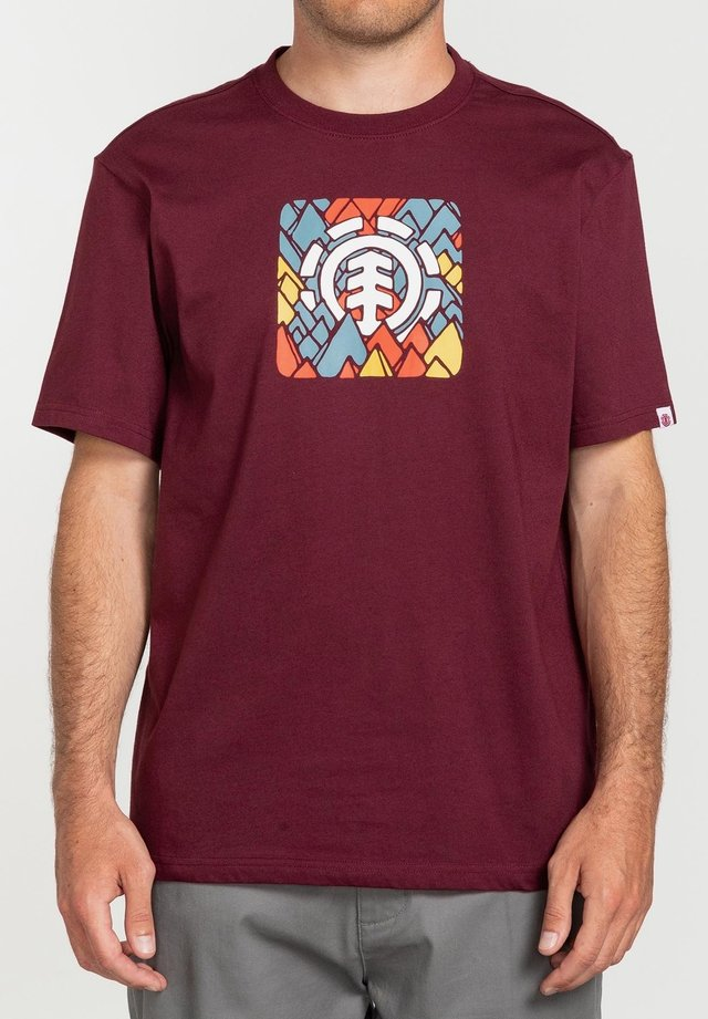 PALETTE - T-shirt print - vintage red