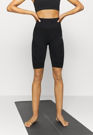ONPJASE CIRCULAR SHORTS - Leggings - black