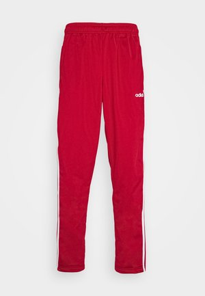 3 STRIPES SPORTS REGULAR PANTS - Spodnie treningowe - scarlett/white