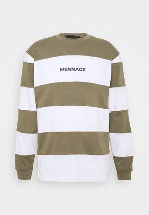 PANELLED STRIPE - T-shirt à manches longues - khaki