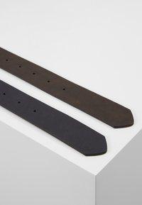 Pier One - UNISEX 2 PACK - Pásek - dark blue/brown - 4